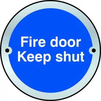 Spectrum Industrial Fire door Keep shut door disc - SSS (75mm dia.)