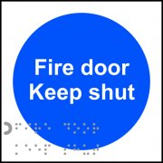 Fire door Keep shut - Taktyle (100 x 100mm) (Pack of 10)