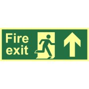 Fire exit?(Man arrow up) - Photolum. (400 x 150mm)