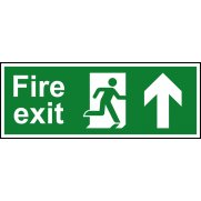 Fire exit (Man arrow up) - RPVC (600 x 200mm)