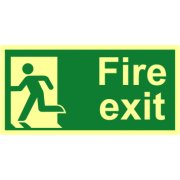Fire exit (Man left) - Photolum. (300 x 150mm)