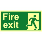 Fire exit (Man right) - Photolum. (300 x 150mm)