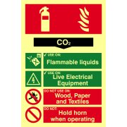 Fire extinguisher composite - CO2 - PHO (200 x 300mm)