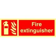 Fire extinguisher - Photolum. (300 x 100mm)