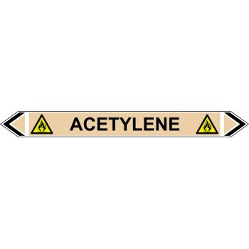 Spectrum Industrial Flow Marker - Acetylene (Yellow Ochre - 5 pack)