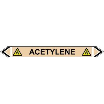 Spectrum Industrial Flow Marker - Acetylene (Yellow Ochre - 5 pack)