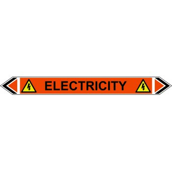 Spectrum Industrial Flow Marker - Electricity (Orange - 5 pack)
