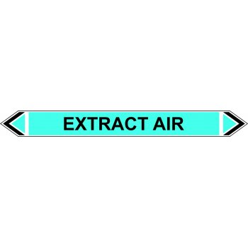Spectrum Industrial Flow Marker - Extract Air (Light Blue - 5 pack)