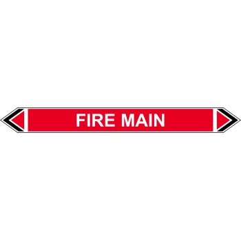 Spectrum Industrial Flow Marker - Fire Main (Red - 5 pack)