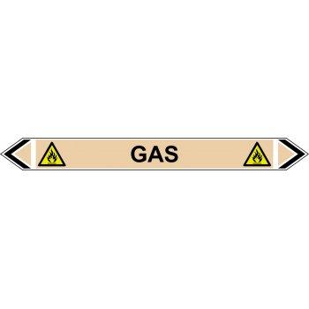 Spectrum Industrial Flow Marker - Gas (Yellow Ochre - 5 pack)