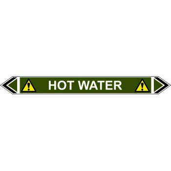 Spectrum Industrial Flow Marker - Hot Water (Green - 5 pack)