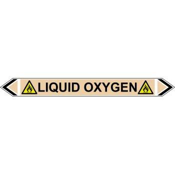 Spectrum Industrial Flow Marker - Liquid Oxygen (Yellow Ochre - 5 pack)