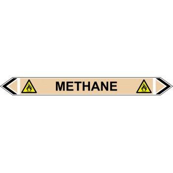 Spectrum Industrial Flow Marker - Methane (Yellow Ochre - 5 pack)