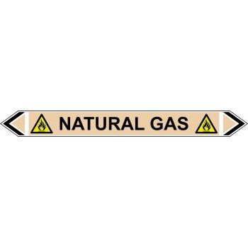 Spectrum Industrial Flow Marker - Natural Gas (Yellow Ochre - 5 pack)