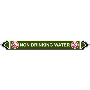 Spectrum Industrial Flow Marker - Non Drinking Water (Green - 5 pack)