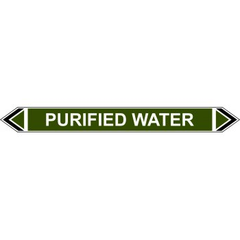 Spectrum Industrial Flow Marker - Purified Water (Green - 5 pack)