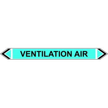 Spectrum Industrial Flow Marker - Ventilation Air (Light Blue - 5 pack)