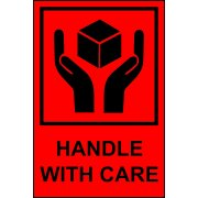 Handle with Care - Paper Packaging Labels (100 x 150mm Roll of 1000)