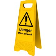 Heavy Duty A-Board - Danger Men at work