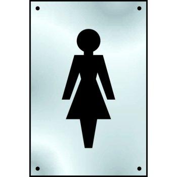 Spectrum Industrial Ladies graphic door plate - SSS (100 x 150mm)