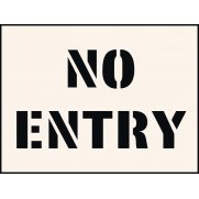 No Entry Stencil (300 x 400mm)