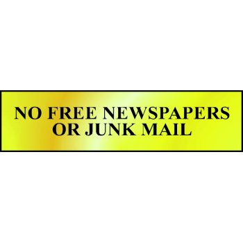 Spectrum Industrial No free newspapers or junk mail - POL (200 x 50mm)