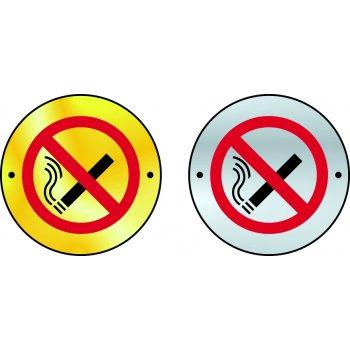 Spectrum Industrial No smoking graphic door disc - SSS (75mm dia.)