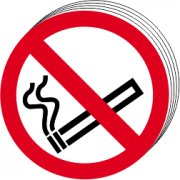 No smoking symbols Double sided - D/S SAV (85mm dia.)