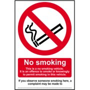 No smoking This is a no smoking vehicle? - SAV (100 x 150mm)