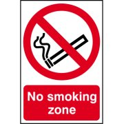 No smoking zone - PVC (200 x 300mm)