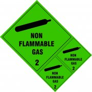 Non flammable gas Class 2 labels - SAV (200 x 300mm) (Pack of 3)