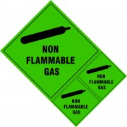 Non flammable gas labels - SAV (200 x 300mm) (Pack of 3)