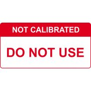 Not Calibrated Do not use - Labels (50 x 25mm Roll of 250)
