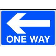 One way arrow left - FMX (600 x 400mm)