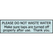 Please do not waste water - SSS Effect (200 x 50mm)