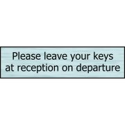 Please leave your keys on departure - SSS Effect (200 x 50mm)
