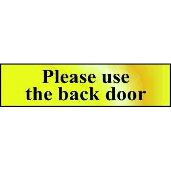 Spectrum Industrial Please use the back door - POL (200 x 50mm)