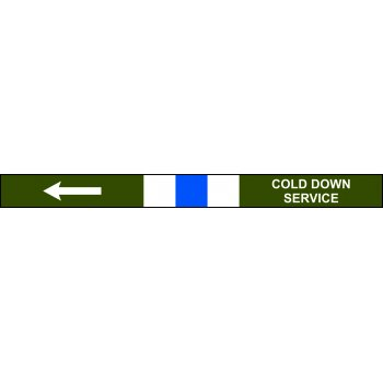 Spectrum Industrial Pre-printed Pipeline Banding - Cold Down Service (400mm x 25m)