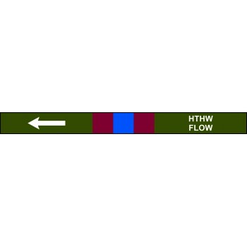 Spectrum Industrial Pre-printed Pipeline Banding - HTHW Flow (400mm x 25m)