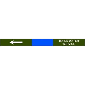 Spectrum Industrial Pre-printed Pipeline Banding - Mains Water Service (400mm x 25m)
