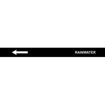 Spectrum Industrial Pre-printed Pipeline Banding - Rainwater (400mm x 25m)