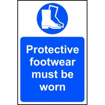 Spectrum Industrial Protective footwear must be worn - RPVC (200 x 300mm)