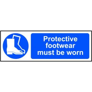 Spectrum Industrial Protective footwear must be worn - RPVC (600 x 200mm)