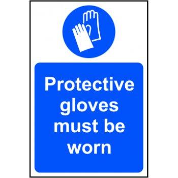 Spectrum Industrial Protective gloves must be worn - SAV (400 x 600mm)