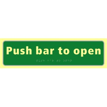 Spectrum Industrial Push bar to open - TaktylePh (450 x 125mm)