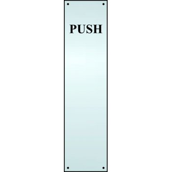 Spectrum Industrial Push finger plate - SSS (75 x 300mm)