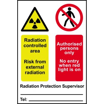 Spectrum Industrial Radiation controlled area Authorised persons only... - PVC (200 x 300mm)