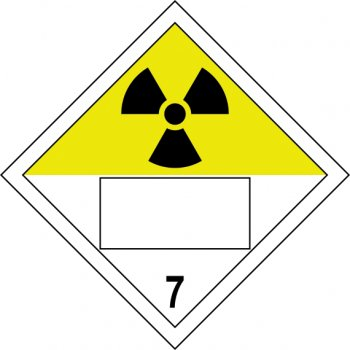 Spectrum Industrial Radioactive 7 Symbol - SAV Placard (250 x 250mm)