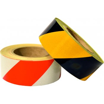 Spectrum Industrial Red/white Reflective tape 50mm x 25mtrs