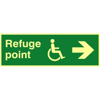 Spectrum Industrial Refuge point arrow right - PHO (450 x 150mm)